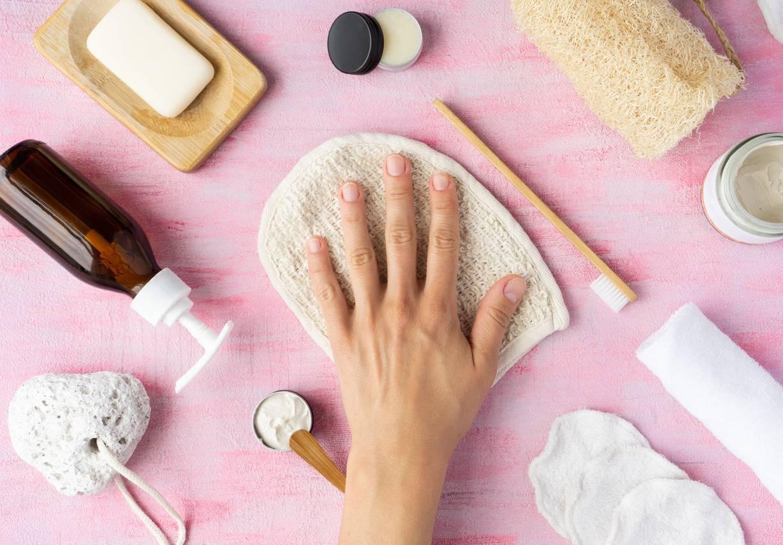 gant en coton biologique accessoires de soin cosmétique